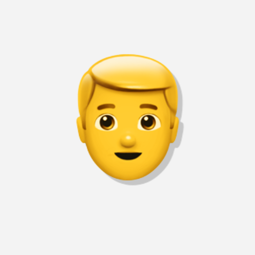 Emojis Blonder Mann der Kategorie Person
