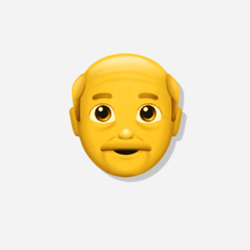 Emojis Alter Mann der Kategorie Person